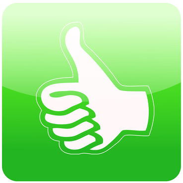 thumbs up-good feedback